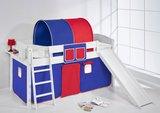 Halfhoogslaper IDA Blauw rood met tent en glijbaan_