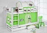 Stapelbed Tractor Groen met tent en lattenbodems_