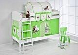 Stapelbed IDA Paard Groen met tent en lattenbodem_