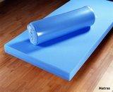 Stapelbed Blauw blank met tent en lattenbodems_