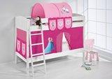 Stapelbed IDA Frozen Roze met tent en lattenbodems_