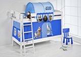 Stapelbed IDA Star Wars Blauw met tent en lattenbodems_