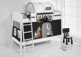 Stapelbed IDA Star Wars Zwart met tent en lattenbodems_