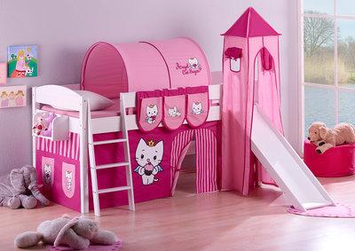 Halfhoogslaper IDA Angel Cat Sugar met tent, toren en glijbaan