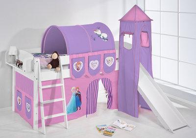 Halfhoogslaper IDA Frozen met tent, toren en glijbaan