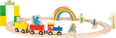 Houten Speelgoedtrein Sesamstraat