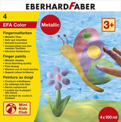 Eberhard Faber EF-578802 Vingerverfset EFA Metallic Set 4 X 100ml Assorti