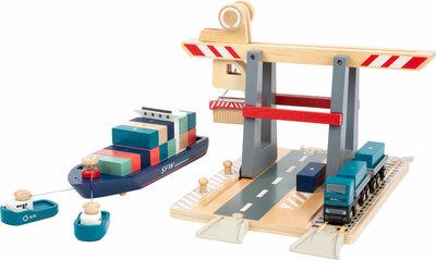 Houten Container Terminal met toebehoren