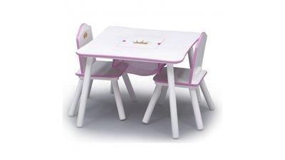 Kindertafeltje met 2 stoeltjes Prinses