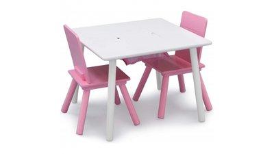Kindertafeltje met 2 stoeltjes Roze