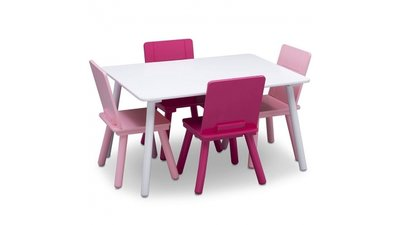 Kindertafeltje met 4 stoeltjes Roze