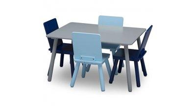 Kindertafeltje met 4 stoeltjes Blauw