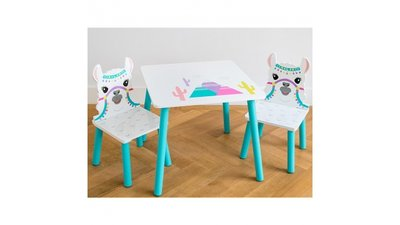 Kindertafeltje met 2 stoeltjes Lama