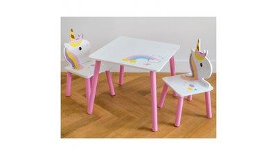Kindertafeltje met 2 stoeltjes Unicorn