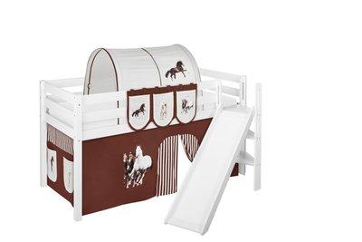 Halfhoogslaper Paard Bruin met tent en schuine glijbaan