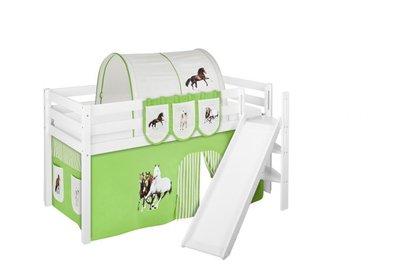 Halfhoogslaper Paard Groen met tent en schuine glijbaan