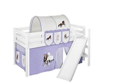 Halfhoogslaper Paard Lila met tent en schuine glijbaan