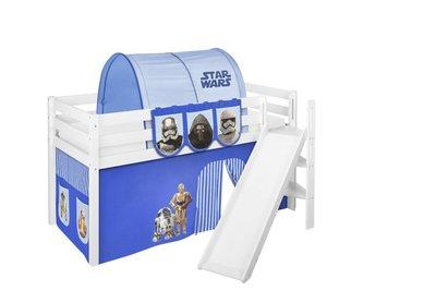 Halfhoogslaper Star Wars Blauw met tent en schuine glijbaan