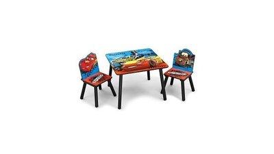 Kindertafeltje met 2 stoeltjes Cars