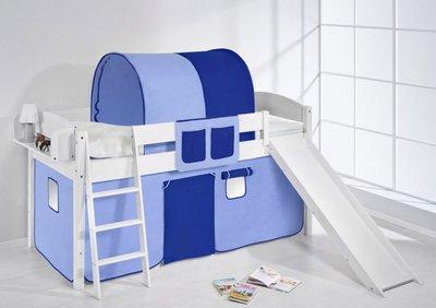 Halfhoogslaper IDA Blauw met tent en glijbaan