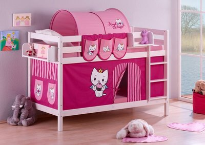 Stapelbed Angel Cat Sugar met tent en lattenbodems