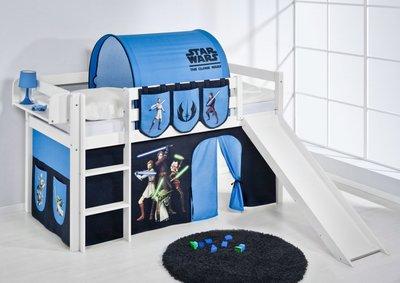 Halfhoogslaper Star Wars met tent en glijbaan