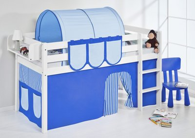 Halfhoogslaper Blue met tent