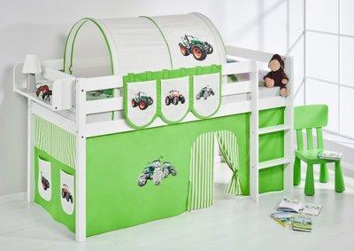 Halfhoogslaper Tractor Groen met tent