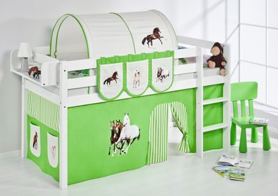 Halfhoogslaper Paard Groen met tent