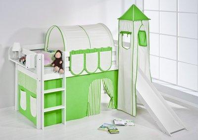 Halfhoogslaper Groen met tent, toren en glijbaan