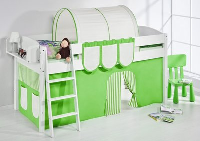 Halfhoogslaper IDA Groen met tent