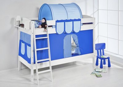 Stapelbed IDA Blue met tent en lattenbodem