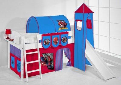 Halfhoogslaper IDA Spiderman met tent, toren en glijbaan