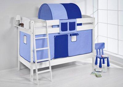 Stapelbed IDA Blauw met tent en lattenbodem