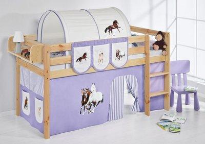 Halfhoogslaper Paard Lila Blank met tent