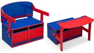 Kinderbankje 3-in-1 Blauw