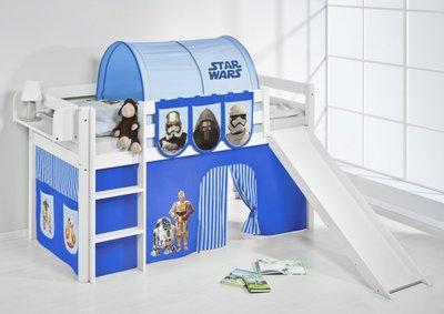 Halfhoogslaper Star Wars Blauw met tent en glijbaan