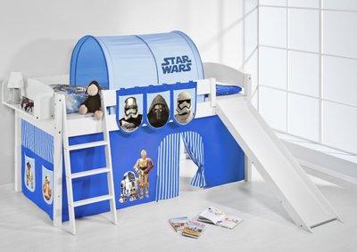 Halfhoogslaper IDA Star Wars Blauw met tent en glijbaan