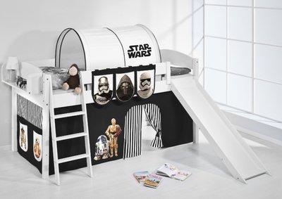 Halfhoogslaper IDA Star Wars Zwart met tent en glijbaan