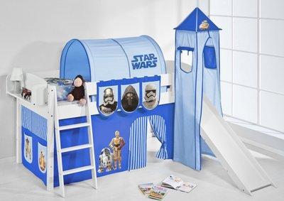 Halfhoogslaper IDA Star Wars Blauw met tent, toren en glijbaan