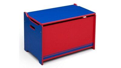 Speelgoedkist Blauw/Rood
