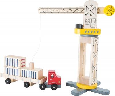 Houten Kraan met vrachtwagen