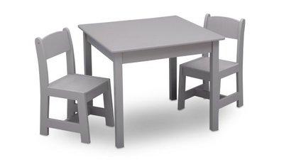 Kindertafeltje met 2 stoeltjes grijs