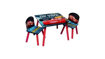 Kindertafeltje met 2 stoeltjes Cars 3