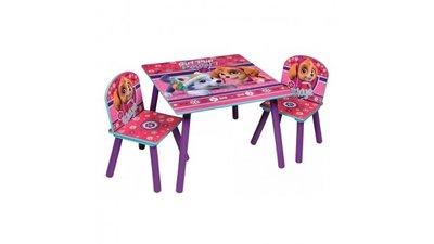 Kindertafeltje met 2 stoeltjes Paw Patrol Girl Pink