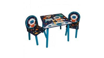Kindertafeltje met 2 stoeltjes Space