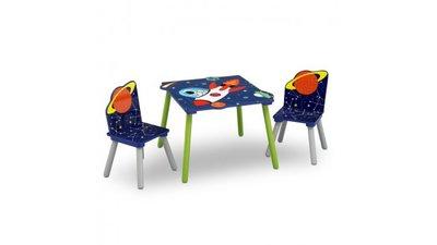 Kindertafeltje met 2 stoeltjes Alfie de Astronaut
