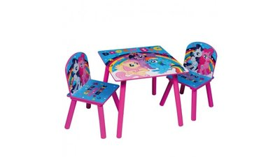 Kindertafeltje met 2 stoeltjes My Little Pony