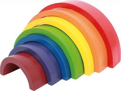Houten Bouw Blokken Regenboog