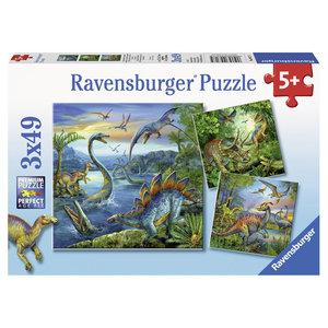 Ravensburger 3 Dinosauriërs Puzzels 3x49 Stukjes
